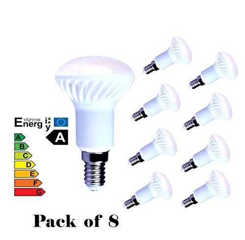 Lampaous 8er Pack LED E14 5W Reflektorlampe R50 - vgl. 40W Gluehlampe - 400 Lumen - E14 LED Neutralweiss - LED Leuchtmittel 160 Grad