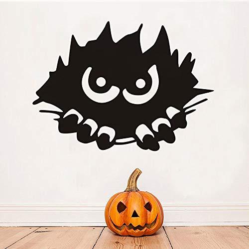 YuanMinglu Halloween Party Monster Spähen Applique Moderne Wandaufkleber Kinder Schlafzimmer Wohnkultur Feuchtigkeit Vinyl Tapete 85,5X61,5 cm