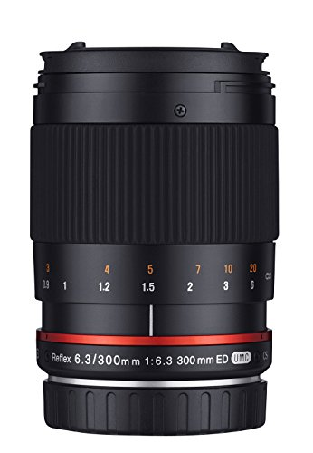 Samyang Reflex f/6.3 300mm Sony E MILC Negro - Objetivo (MILC, 9/9, 0,9 m, Sony E, Manual, 30 cm)
