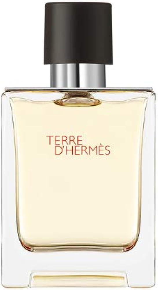 Hermes terre d`hermes, eau de toilette profumo spray per uomo, 50 ml 146103