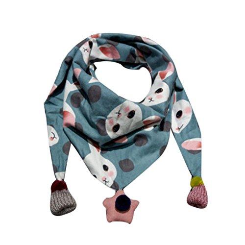 Dragon868 Schal Kinder, Winter Schal Mode Baby Schal Junge Mädchen Halstuch Kopf Hals Kind Schals (Blau)
