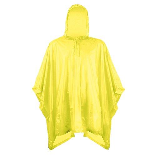 Splashmacs Kinder Plastik Regenumhang (Eine Größe: 6/12 Jahre (110-152cm)) (Gelb)