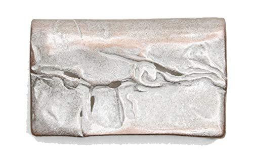 VaModa Gürtelschließe Wechselschließe Gürtelschnalle Buckle Modell 'Old Time Antiq Rosé', Silber, 7.5x4,5cm