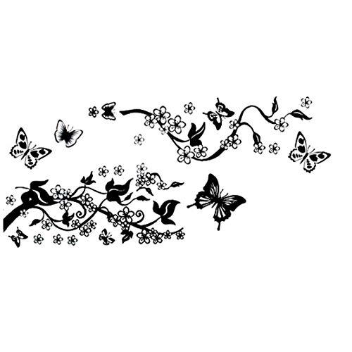 linjunddd 1pc Schmetterling Zweige Wand-Aufkleber-Dekoration-Aufkleber-Wand Entfernbare Wand Kunst Für Room Home Decor Komfortable Versorgung