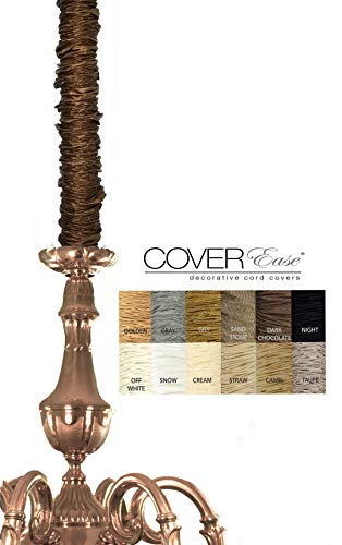 Dark Chocolate CoverEase Chandelier Chain Cover 6 ft Long Dk Brown