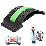 Upgrade Back Stretcher with Magnetic Acupressure Points, JESTOP Multi-Level Back Massager Lumbar, Lumbar Support Device Pain Relief for Herniated Disc, Sciatica