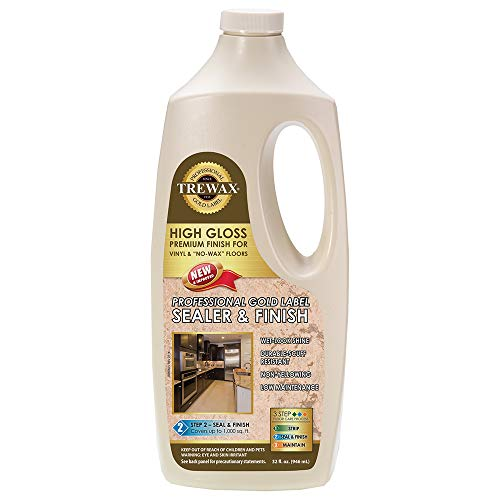 Trewax Professional Gold Label Sealer Wax Gloss Finish, 32-Ounce (887135027)