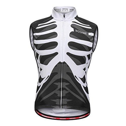 Sharplace Unisex Fahrradweste Reflektierende Laufweste Radweste Radsport Trikot, Atmungsaktiv und Winddicht, für Männer und Frauen - L