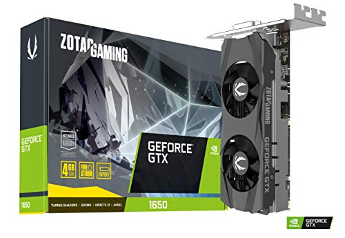 ZOTAC GAMING GeForce GTX 1650 LP 4GB GDDR6 128-bit Gaming Graphics Card, Super Compact, Low-profile, ZT-T16520H-10L