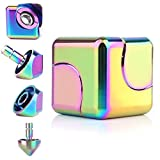VCOSTORE Rainbow Fidget Spinner, Hand Spinners Metal Focus Fidgeting Toy for Adult Kids Autism Stress Relief,Square