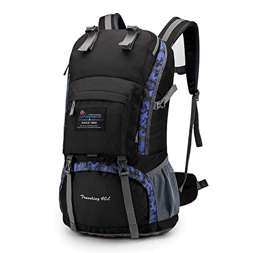 Mountaintop 40L Hiking Backpack for Outdoor Camping (Floral)