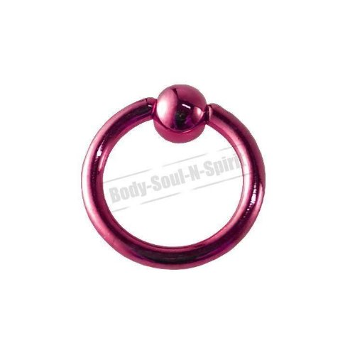 Boule Nez Lèvre Cercle ROSE 8mm BSR Perçage corps Cartilage Oreille 316L acier