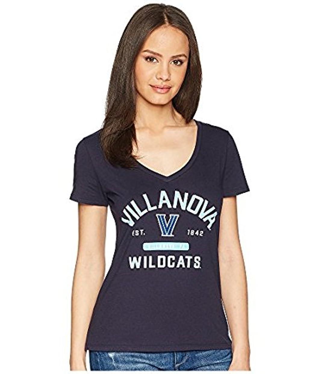 有用位置するぬれたチャンピオンカレッジ Champion College レディース トップス シャツ ブラウス Navy Villanova Wildcats University V-Neck Tee [並行輸入品]