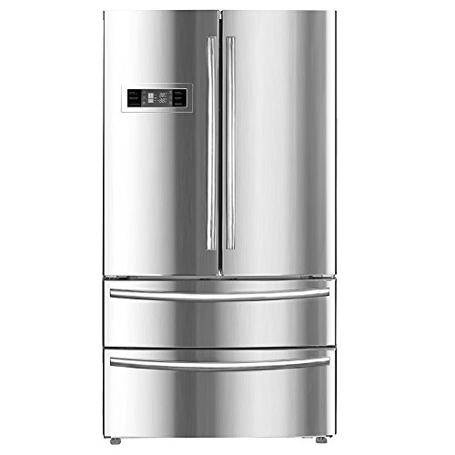 Smad Counter Depth French Door Refrigerator with Ice Maker Bottom Freezer Built-in For Home Kitchen Hotel & Restaurant, Stainless Steel