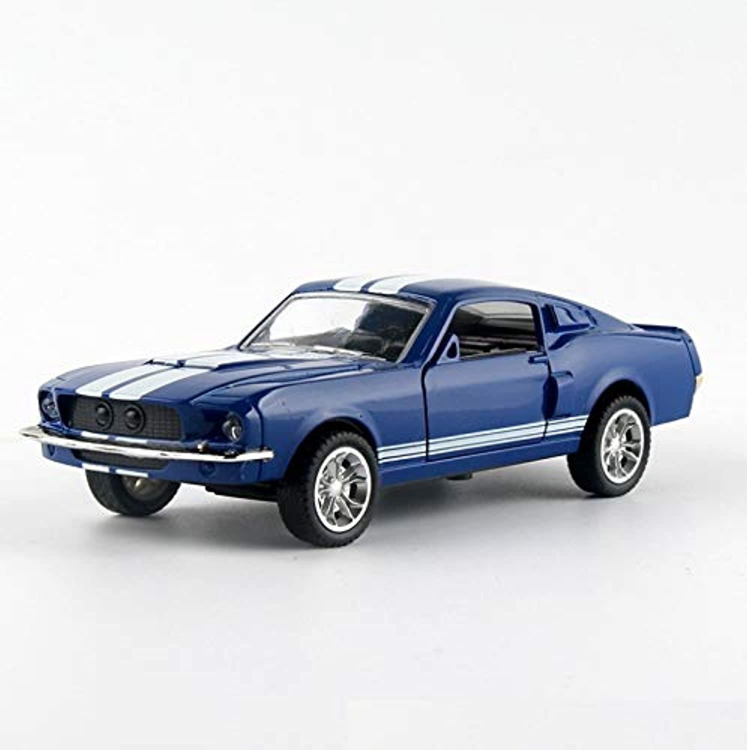 LBYMYB Model Car Ford Mustang 1967 GT500 Model 1 32 Simulation Alloy Car Model Die-Casting Model Boy Gift (color   bluee)