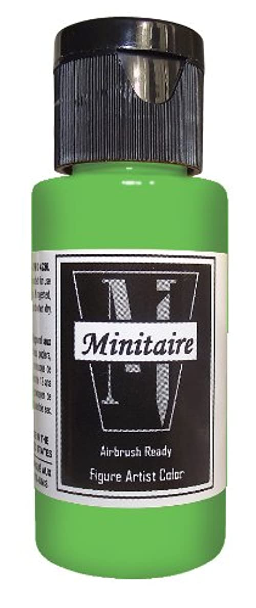 Badger Air-Brush Company 2-Ounce Bottle Miniature Airbrush Ready Water Based Acrylic Paint, Boring Green