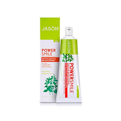 Jason Powersmile Enzyme Brightening Gel Toothpaste Fluoride-free, 4.2 Ounce by Jason