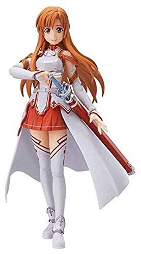 XIAOGING Sword Art Online Yuuki Asuna Figura de accion de Figma el 13.5CM-VRMMORPG YuukiAsuna-Figurita Decoracion Adornos coleccionables animaciones de Personajes de Juguete Modelo