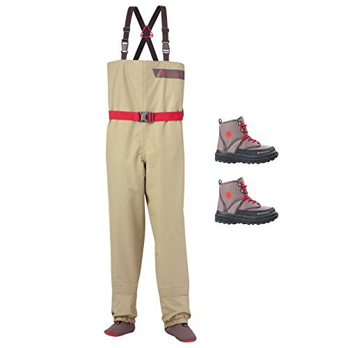 Redington Crosswater Youth Fly Fishing 12-14 Waders & Boots 6K Bundle