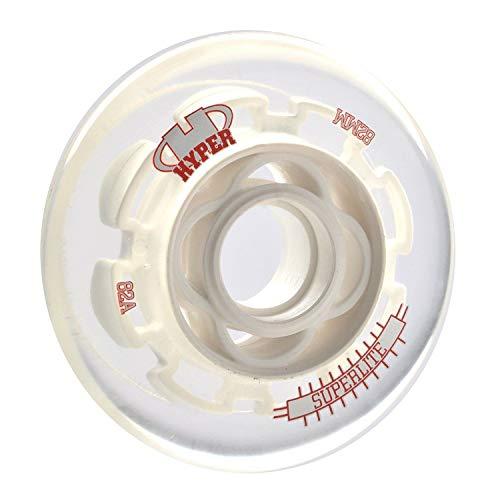 HyperWheels Des Hyper Rad P. Perf Superlite 72-82a 4 Stück Inlineskates Unisex Erwachsene, Unisex-Erwachsene, 0016041, Weiß (Weiß), 72mm/82a