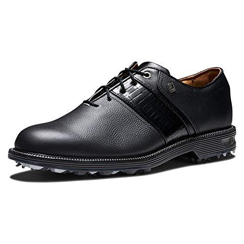 FootJoy Men's Premiere Series-Packard Golf Shoe, Black/Black, 15