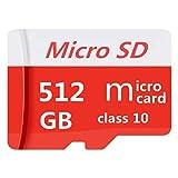 Tarjeta Micro SD de 512 GB, Tarjeta Micro SDXC UHS-I de Alta Velocidad para cámaras Digitales y teléfonos celulares, tabletas, GPS, PC, Clase 10, vídeo Full HD