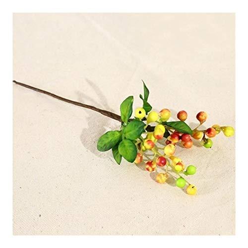 DAHDXD Flores Artificiales Estambres Bayas Cereza Fake Smooth Foam Fruit For Decoración De Bodas Flor artificia (Color : Sunset)