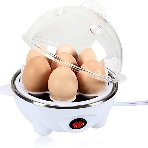 LOVEHOUGE Hervidor De Huevos,Hervidor De Huevos Eléctrico,Hervidor De Vapor,Capacidad para 7 Huevos Duros,Huevos Duros,Medios O Duros,Apagado...