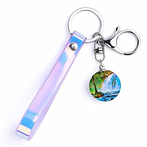 Mexiko Chiapas Schlüsselanhänger Kristall Souvenirs Kollektion Kristallglas Anhänger Runder Metall Schlüsselanhänger Edelstahl Schlüsselanhänger Reise Stadt Dekor Geschenke