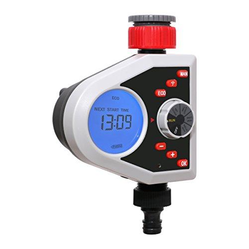 Aqualin Bewässerungscomputer mit LCD Display Automatische Bewässerungsuhr Garten Bewässerungssystem Wasser Zeitschaltuhr