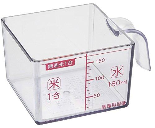 貝印 KAI 計量カップ お米がすくいやすい角型カップ Kai House Select DH7268