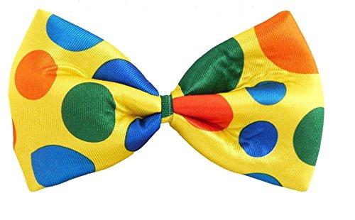 Jumbo Sized Polka Dot Clown Bow Tie Fancy Dress Accessory
