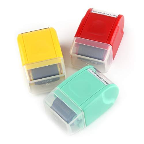 LETAOSK Mini Guard Your ID Messy Code Security SelfInking Roller Stamp Stationery Tool Bürobedarf Größe: ca. 6x3,7x3cm(2,4x1,5x1,2inch)(LxBxT)
