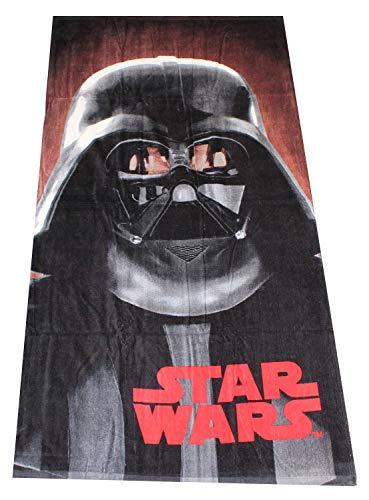 StarWars Toallas de mano de 140 x 70 cm, toallas de playa, toallas de baño de 100% algodón, diferentes diseños con motivos conocidos de las películas, para niños (Dart Vader Rogue One)