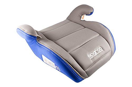 Sparco SPC3002GR3CM Seggiolino di Rialzo per Bambini, Grigio/Blu, 3 cm