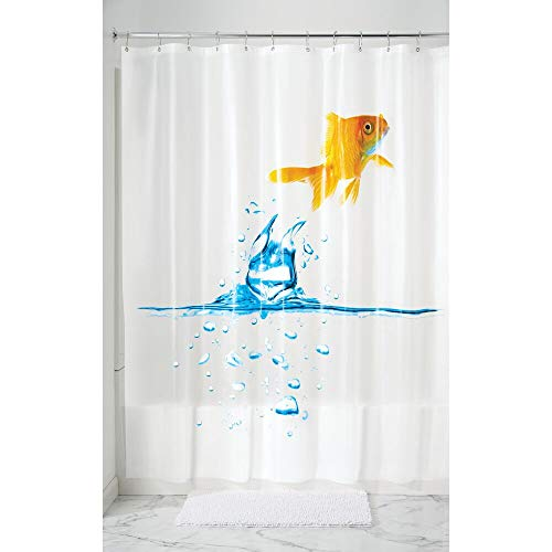 MDESIGN Duschvorhang Anti-Schimmel - 183 cm x 183 cm - bunter Dusch- und Badewannenvorhang - Duschvorhang wasserabweisend - 12 verstärkte Metallösen