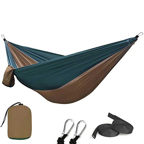 NOBRAND 210T Nylon Parachute Hammock Light Weight Outdoor Camping Portable Single Hammock With Hammock Ropes And Hammock Carabiners