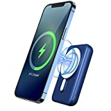 Power Bank, HiGoing 10000mAh 15W Magnetic Fast Wireless Powerbank 20W USB C Quick Charge External Battery Charger for iPhone 12 11 XR XS X 8, Samsung Galaxy S20+ S10 Note 10 LG, etc. (Blue)