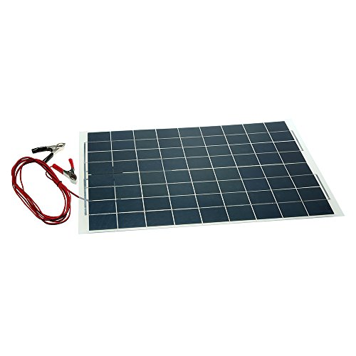 KKmoon Caricabatteria per Pannello Solare Semi-Flessibile da 30W 12V