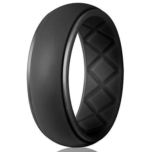 Egnaro Silicone Wedding Ring for Men, Particularly Breathable Mens' Rubber...