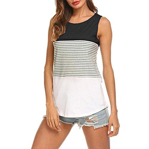 ESAILQ Damen Rundhals Kurzarm T-Shirt Tops mit Allover Anker Print Frauen Casual Druck T-Shirt(XL,Schwarz)