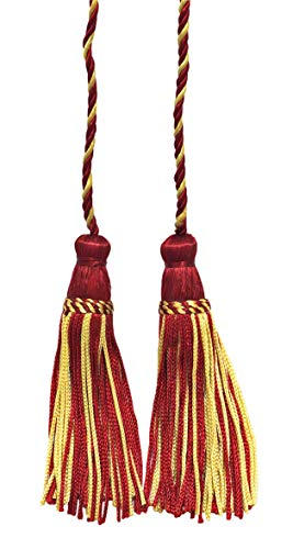 Set of 2 Light Gold, Cherry Double Tassel / Tassel Tie with 10cm Tassels / Spread 74cm, Style# CDCT Color: 572