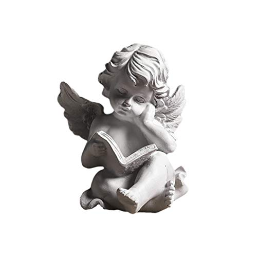 BESPORTBLE Angel Statue Figurine Sculpture Cherub Wings Angel Statue Figure Garden Guardian Memorial Statue for Home Table Decoration Style 1