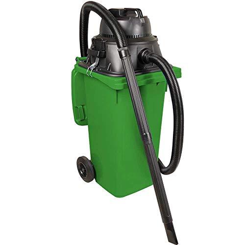 BRB Nass-/Trockensauger/Industriesauger 1100 Watt, mit 120 Liter Behälter (DIN Mülltonne) grün