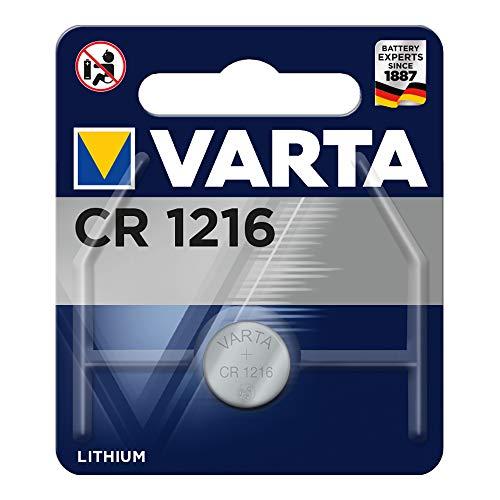 VARTA CR1216, 6216101401, Batteria Litio a Bottone, Piatta, Specialistica, 3 Volts, Diametro 12,5mm, Altezza 1,6mm, confezione 1 pila
