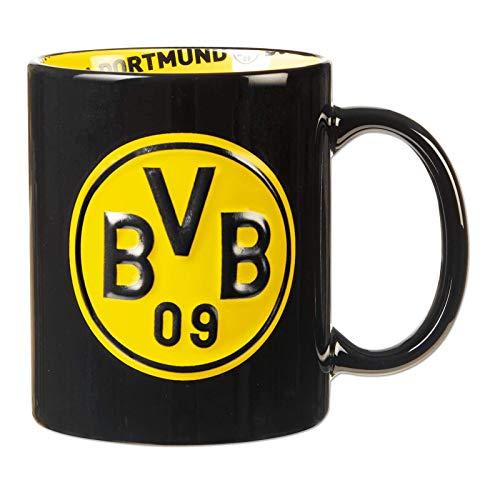 Borussia Dortmund Unisex Bvb-tasse mit Innendekor Tasse, Schwarz, Einheitsgröße