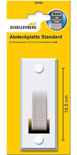 Schellenberg 53103 Abdeckplatte Gurtwicklerblende Lochabstand 10,5 cm Blende für Gurtwickler, für Einlasswickler