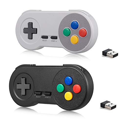 MODESLAB 2 Pack Wireless Controller for SNES Classic/Mini with USB...