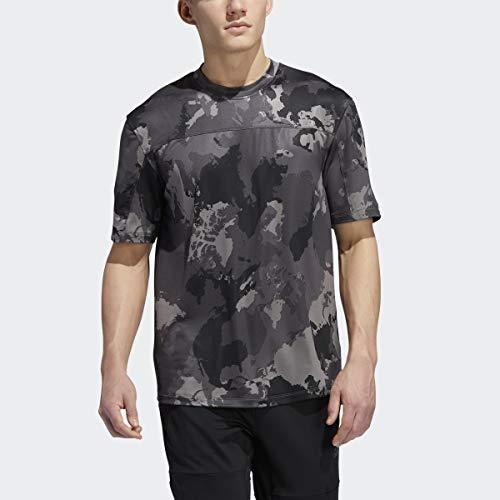 adidas Camiseta Continent Camo City para Hombre, Hombre, Camiseta, IPE68, Gris, L