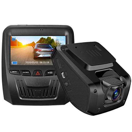 Dash cam, 1080P Full HD Dashboard Camera with Super Night Vision 3 Inch IPS Screen Car Camera G-Sensor, WDR, Loop Recording, Motion Detection, Adapter with Output